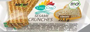 Sezamki Klasyczne Bio 22,5 g - Croc-Crac