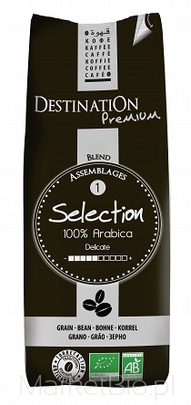 Kawa 100% Arabica Selection Ziarna Bio 1 Kg - Destination