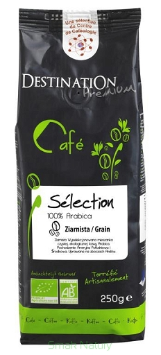 Kawa 100% Arabica Selection Ziarnista Bio 250 g - Destination