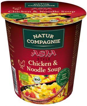 Danie w Kubku Zupa z Kurczakiem i Makaronem w Stylu Azjatyckim Bio 55 g - Natur Compagnie