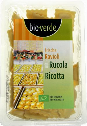 Ravioli z Rukolą i Ricottą Bio 250 g - Bio Verde