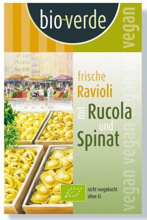 Ravioli Świeże z Rukolą i Szpinakiem Bio 250 g - Bio Verde