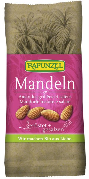 Migdały Prażone Solone Bio 60 g - Rapunzel