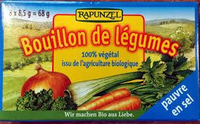 Bulion - Kostki Warzywne o Obnizonej Zawartości Soli (Niebieskie) Bio 8X8,5 g - Rapunzel