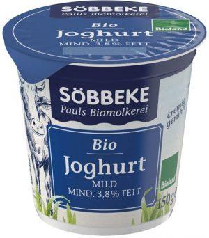 Jogurt Naturalny 3,8% Bio 150 g - Sobbeke