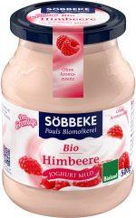 Jogurt Malinowy 7,5% Bio 500 g (Słoik) - Sobbeke