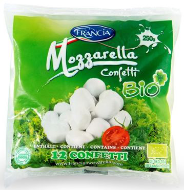 Mozzarella (12 Małych Kulek) Bio 250 g - Francia