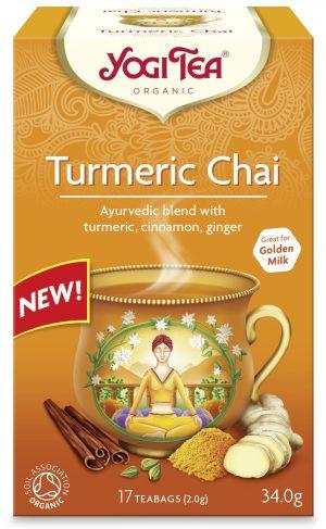 Herbatka Złoty Chai z Kurkumą Bio (17 x 2 G) 34 g - Yogi Tea