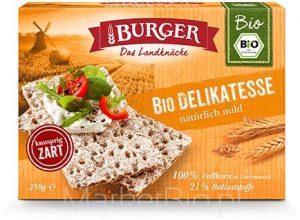 Pieczywo Chrupkie Żytnie Razowe Bio 250 g - Burger