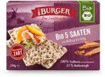Pieczywo Chrupkie Razowe 5 Ziaren Bio 250 g - Burger