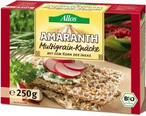 Pieczywo Chrupkie Amarantusowe Wielozbożowe Bio 250 g - Allos