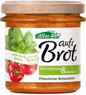 Pasta Kremowa z Pomidorami Cherry i Bazylią Bezglutenowa Bio 140 g - Allos