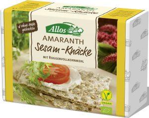 Pieczywo Chrupkie Amarantusowe z Sezamem Bio 250 g - Allos