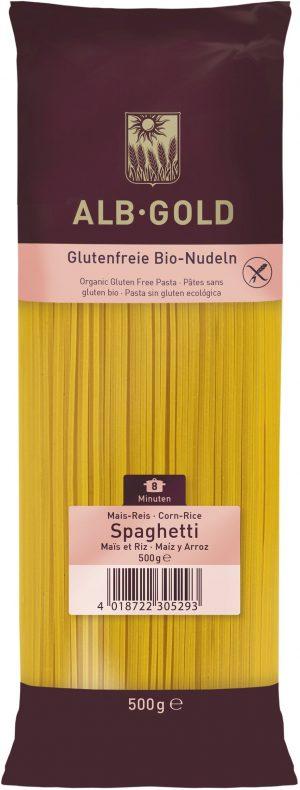 Makaron (Kukurydziano - Ryżowy) Spaghetti Bio 500 g - Alb Gold