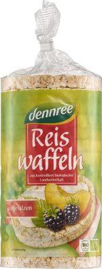 Wafle Ryżowe Pełnoziarniste Bezglutenowe Bio 100 g - Dennree