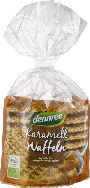 Wafle z Nadzieniem Karmelowym Bio 315 g - Dennree