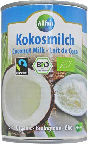 Mleczko Kokosowe (18% Tłuszczu) Fair Trade Bio 400 Ml - Allfair