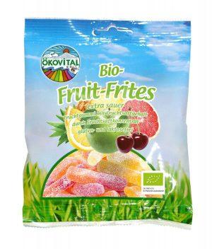 Żelki Owocowe Kwaśne Bez Laktozy Bezglutenowe Bio 100 g - Okovital