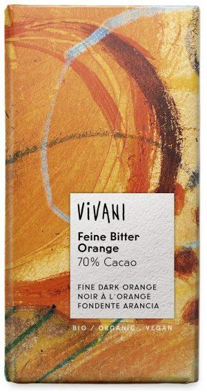 Czekolada Gorzka o Smaku Pomarańczy Bio 100 g - Vivani