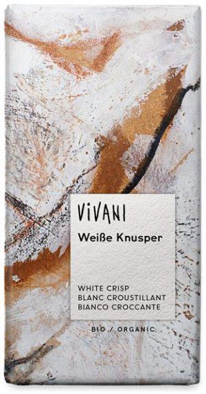 Czekolada Biała z Chrupiącym Ryżem Bio 100 g - Vivani
