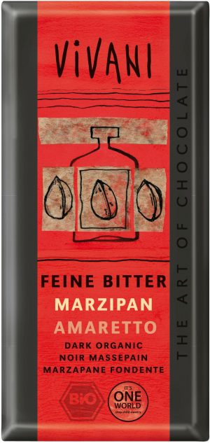 Czekolada Gorzka z Marcepanem Amaretto Bio 100 g - Vivani
