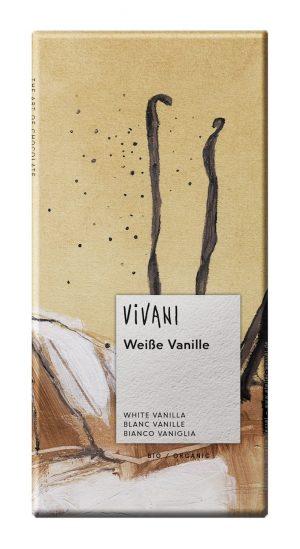 Czekolada Biała z Wanilią Bio 80 g - Vivani