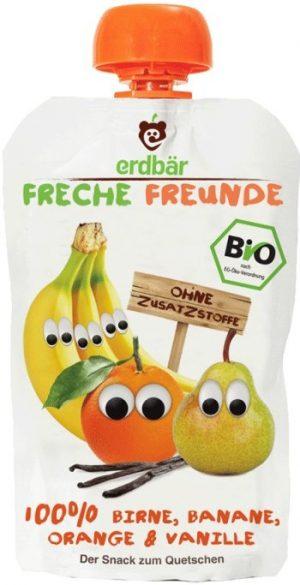Mus Banan, Pomarańcza, Wanilia Bio 100 g - Erdber