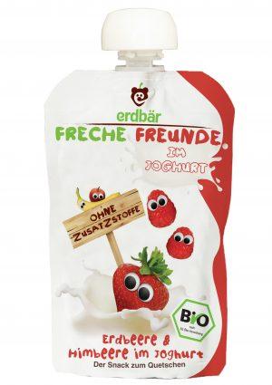 Jogurt Do Wyciskania Truskawka- Malina Bio 100 g - Erdbar
