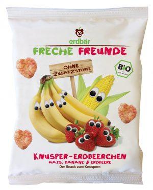 Chrupki Kukurydza- Banan- Truskawka Bio 30 g - Erdbar
