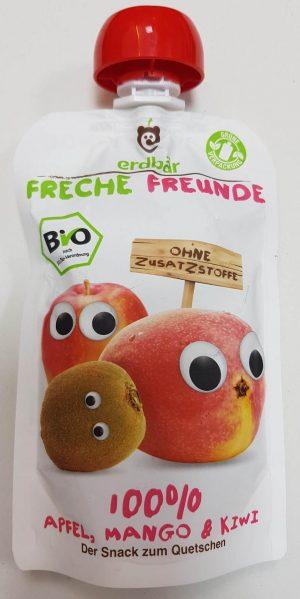 Mus Jabłko, Mango, Kiwi Bio 100 g - Erdber