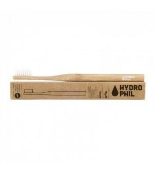 Naturalna, Wegańska Szczoteczka Do Zębów z Biodegradowalnego Bambusa, Włosie Średnie, Naturalna, Hydrophil