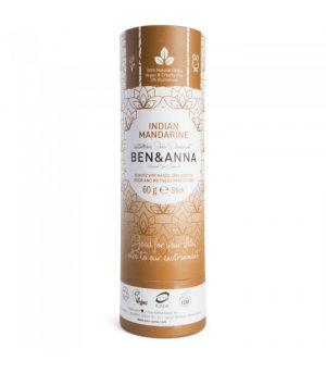Naturalny Dezodorant Na Bazie Sody, Indian Mandarine (sztyft Kartonowy), 0% Aluminium, 60 G, Ben&anna