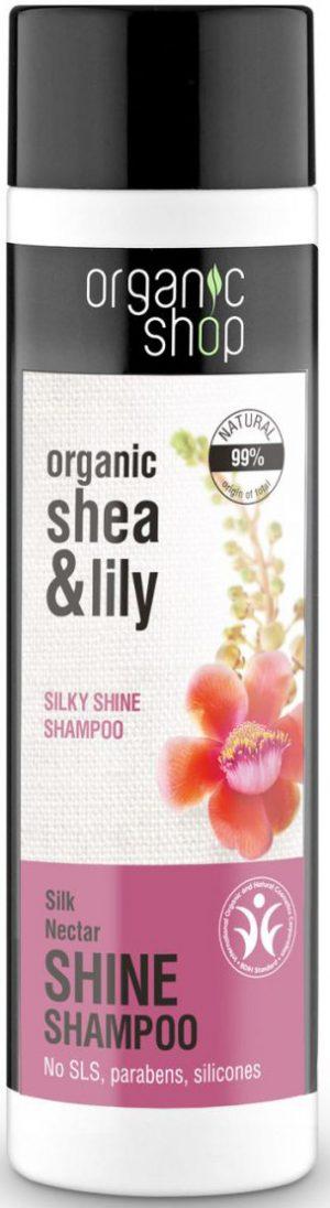Szampon Do Włosów Jedwabisty Połysk Jedwabny Nektar 280 Ml - Organic Shop