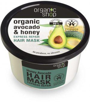Maska Do Włosów Ekspresowo Regenerująca Miodowe Awokado 250 Ml - Organic Shop