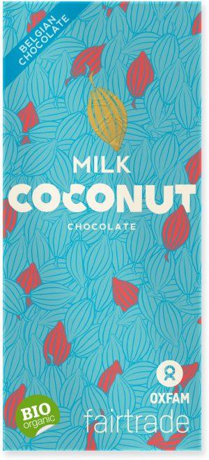 Czekolada Mleczna z Płatkami Kokosowymi Fair Trade Bio 100 g - Oxfam