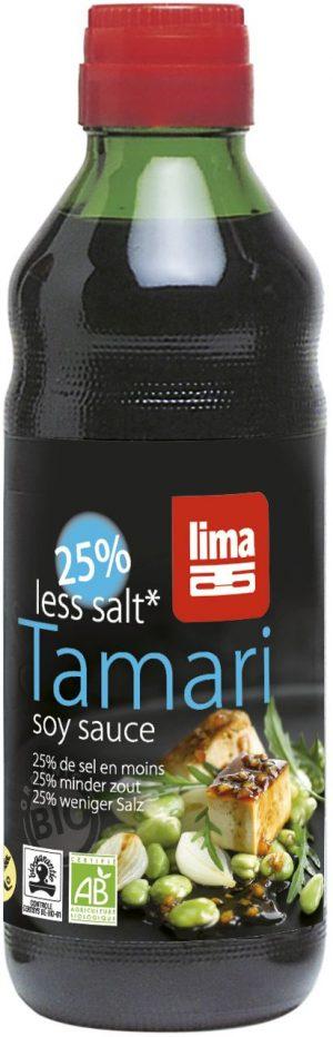 Sos Sojowy Tamari 25% Mniej Soli Bio 250 Ml - Lima