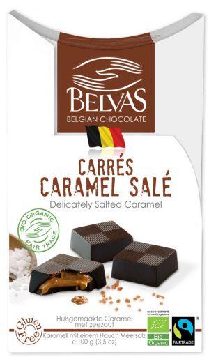 Belgijskie Czekoladki z Karmelem i Salą Bezglutenowe Fair Trade Bio 100 g - Belvas