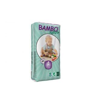 Pieluszki Jednorazowe Ekologiczne (4) Bambo Nature Maxi (7-18 Kg) 60 szt.