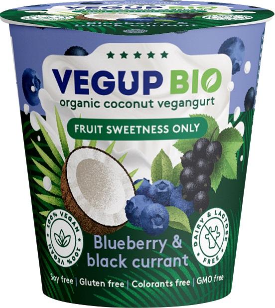 Produkt Kokosowy Jagoda - Czarna Porzeczka Bezglutenowy Bio 140 g - Vegup Bio