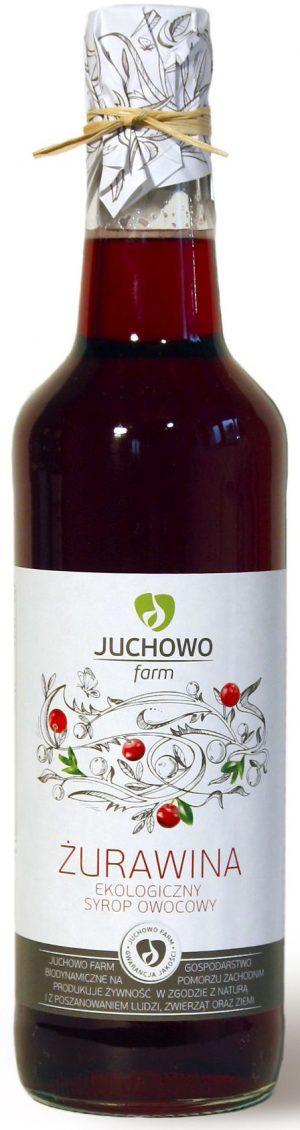 Syrop Żurawinowy Bio 500 Ml - Juchowo