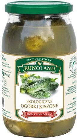 Ogórki Kiszone Bio 820 g (460 G) - Runoland