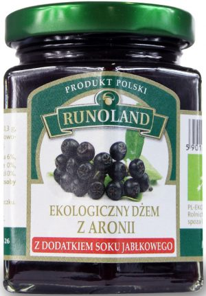 Dżem z Aronii z Dodatkiem Soku Jabłkowego Bio 200 g - Runoland