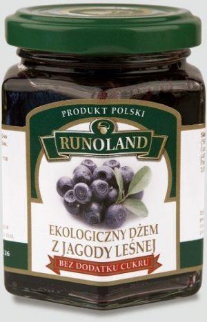 Dżem z Jagody Leśnej z Dodatkiem Soku Jabłkowego Bio 200 g - Runoland