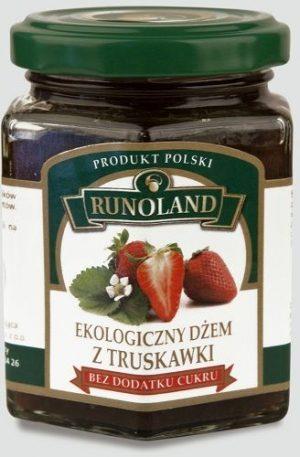 Dżem z Truskawki z Dodatkiem Soku Jabłkowego Bio 200 g - Runoland
