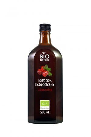 Sok z Żurawiny 100% Bio 500 Ml - Bionaturo