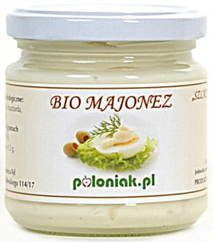 Majonez Jajeczny Bio 180 Ml - Poloniak