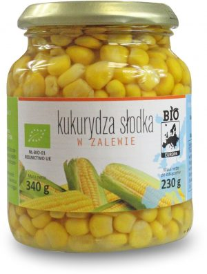 Kukurydza Słodka w Zalewie w Słoiku Bio 340 g (230 G) - Bio Europa