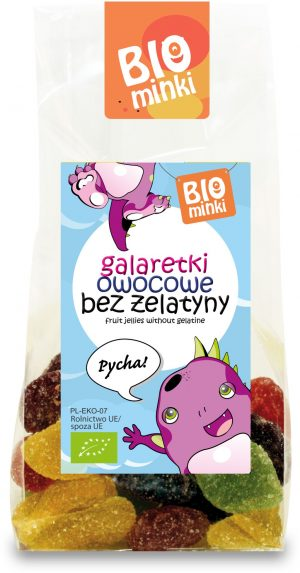 Galaretki Owocowe Bez Żelatyny Bio 100 g - Biominki