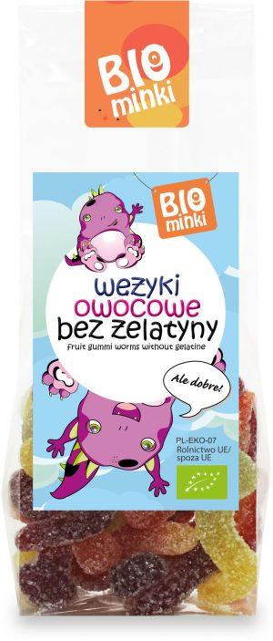 Wężyki Bez Żelatyny Bio 100 g - Biominki