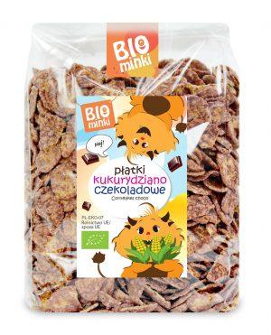 Płatki Kukurydziano- Czekoladowe Bio 250 g - Biominki